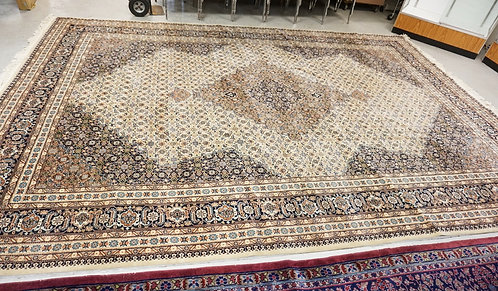 HAND WOVEN ROOM SIZE TABRIZ ORIENTAL RUG. 15 FT 8 INCHES X 11 FT 3 INCHES.
