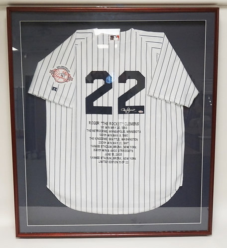 AUTOGRAPHED ROGER *THE ROCKET* CLEMENS NEW YORK YANKEES 2003 100TH ANNIVERSARY P