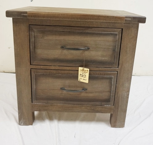 SOLID MAPLE, USA 2 DRAWER STAND. NEW FURNITURE LIQUIDATION. 27 IN WIDE, 27 1/4 I