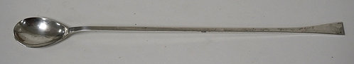 STERLING SILVER LONG HANDLED SPOON. 1.39 TROY OZ. 11 1/4 INCHES LONG.