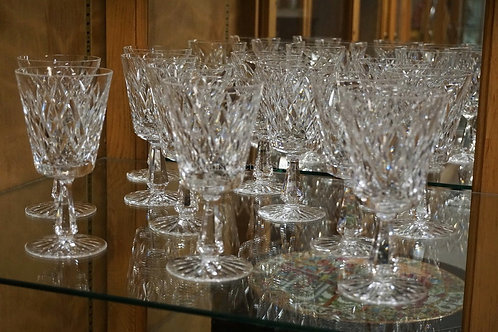 SET OF 12 WATERFORD *KINSALE* 6 3/4 INCH GOBLETS.