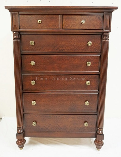 LANE FURNITURE *NATIONAL GEOGRAPHIC COLLECTION* 7 DRAWER HIGH CHEST WITH FLUTED