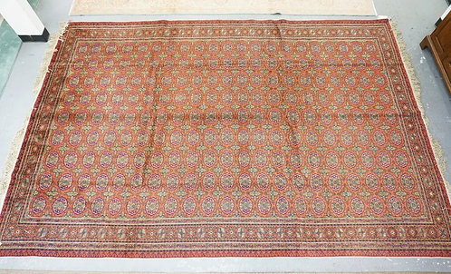 ROOM SIZE ORIENTAL RUG MEASURING 8 FT 3 INCHES X 12 FT 5 INCHES.