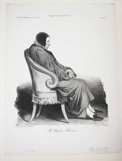 HONORE DAUMIER (1808-1879) *MR. BARBE-MARBOIS*. CRAYON LITHOGRAPH WITH SCRAPING.
