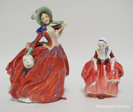LOT OF 2 ROYAL DOULTON PORCELAIN FIGURES. *AUTUMN BREEZES* AND *DOODY TWO SHOES*