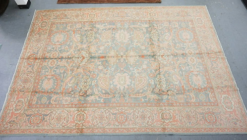 ROOM SIZE ORIENTAL RUG MEASURING 8 FT 8 INCHES X 11 FT 8 INCHES.