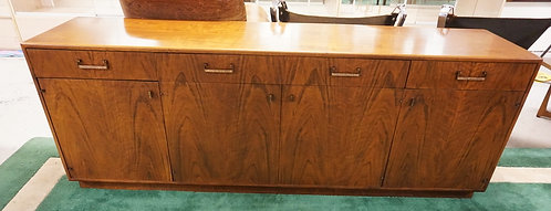 MAURICE VILLENCY MID CENTURY MODERN WALNUT SIDEBOARD. 78 INCHES LONG. 28 INCHES