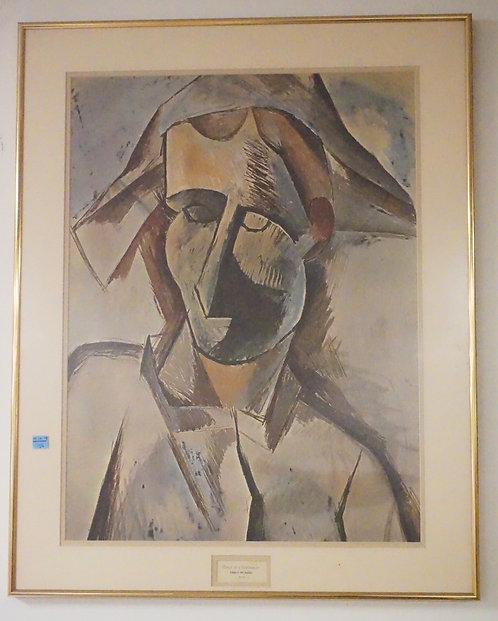 PRINT AFTER PICASSO. *HEAD OF HARLEQUIN*. 23 1/2 X 29 1/2 INCH FRAME. PROFESSION