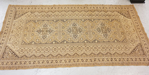 TAPESTRY MEASURING. 9 FT 4 X 4 FT 6 INCHES. HAS WEAR AND TACK HOLES.