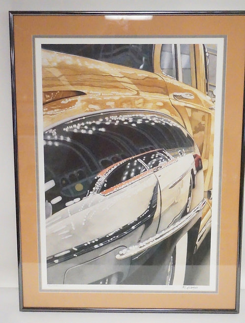 D. MCCRARY LIMITED EDITION PRINT TITLED *TOWN & MERCURY*. EDITION #7/750. 20 X 2