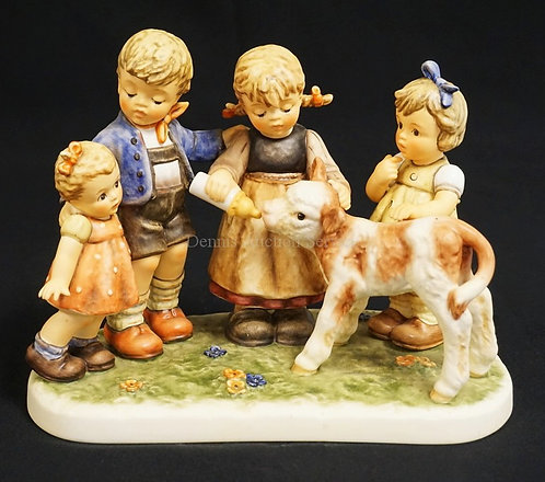 HUMMEL #2165 *MOMENTS IN TIME - FARM DAYS*. 7 1/8 INCHES HIGH. LIMITED EDITION #
