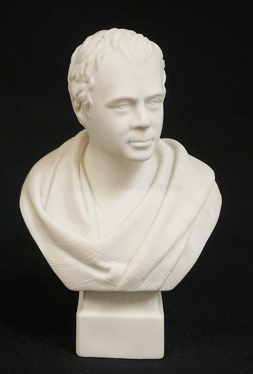 1019_R&L PARIAN BUST OF SIR WALTER SCOTT. 6 1/2 INCHES HIGH.