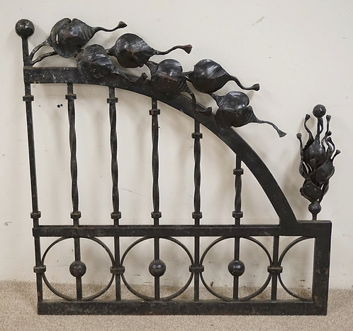 WROUGHT IRON SCULPTED ARCHITECTURAL PIECE. MADE BY *KALUVA*. NOT SIGNED. 39 1/2