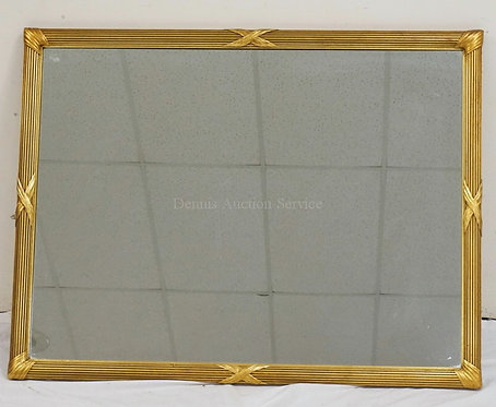 LARGE WALL MIRROR IN A GOLD GILT FRAME. 43 1/4 X 33 INCHES.
