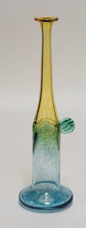 KOSTA BODA - BERTIL VALLIEN *WIND PIPES* MODERN ART GLASS VASE MEASURING 11 5/8