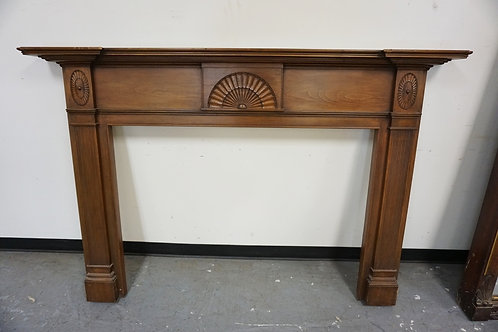 """COLONIAL STYLE PINE MANTLE. CUSTOM MADE BY EDWIN JACKSON, NY. 73"""" WIDE X 8 3/4"""""""