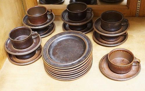 25 PCS ARABIA FINLAND LUNCHEON SET. PLATES ARE 8 INCHES,