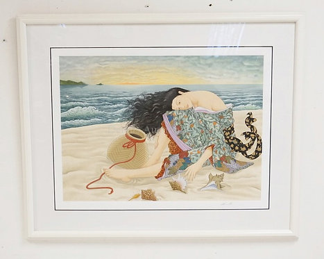 *MURIMASA KUDO* PENCIL SIGNED SERIGRAPH. LIMITED EDITION #19/125. 51 X 41 1/2 IN