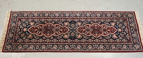 ORIENTAL RUNNER MEASURING 6 FT X 2 FT 1 INCHES.