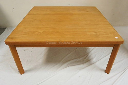 MODERN COFFEE TABLE. 37 1/4 IN SQUARE, 16 IN H.
