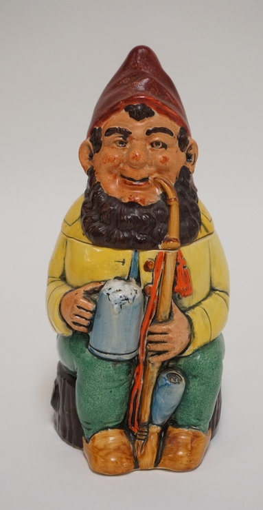 1044_FIGURAL GERMAN STEIN. #430, MADE IN WEST GERMANY. 9 3/8 INCHES HIGH.