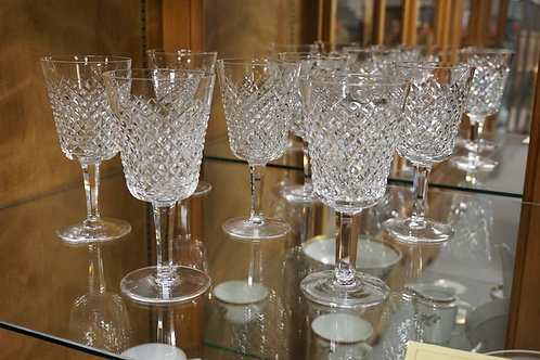 7 WATERFORD GOBLETS. 6 7/8 INCHES HIGH.