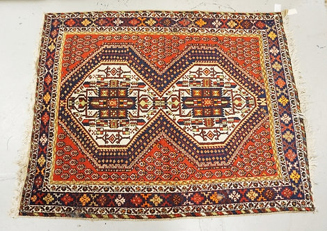 1008_HAND WOVEN ORIENTAL RUG MEASURING 6 FT 5 X 5 FT.