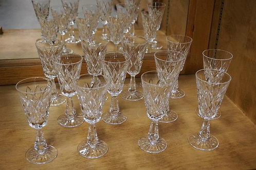 SET OF 12 WATERFORD *KINSALE* 5 1/2 INCH WINES.