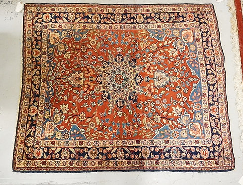 HAND WOVEN ORIENTAL AREA RUG MEASURING 5 FT 6 X 4 FT 6 INCHES.