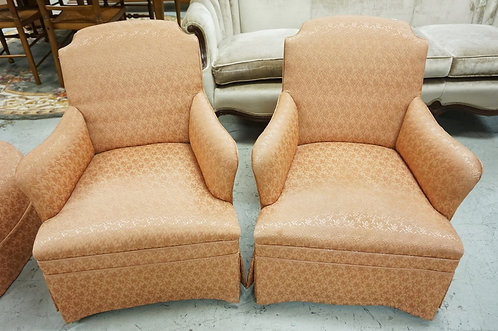 PAIR OF UPHOLSTERED PARLOR CHAIRS.