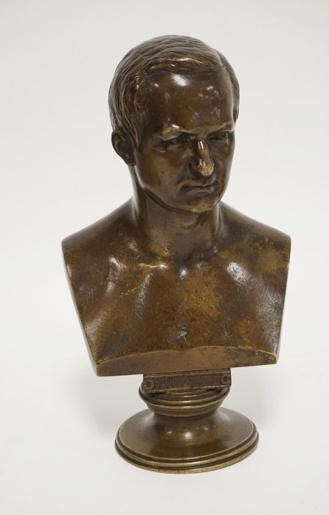 BRONZE BUST OF A MAN. 7 3/4 IN H