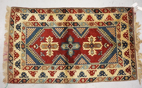 1005_HAND WOVEN TURKISH RUG MEASURING 6 FT 4 INCHES X 3 FT 9 INCHES.