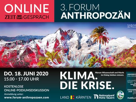 3. Forum Anthropozän - Online ZEIT-GESPRÄCH
