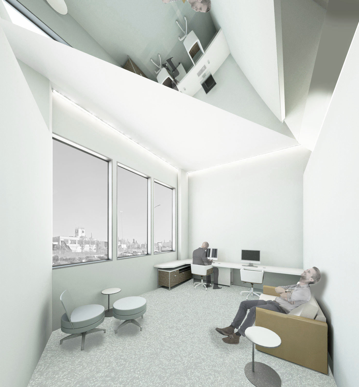 View of 2nd floor individualm office