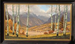 Golden Valley 38 x 70 framed