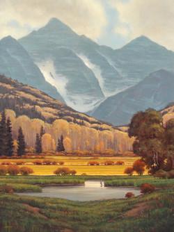 Mountain Meadows 48 x 36 unframed