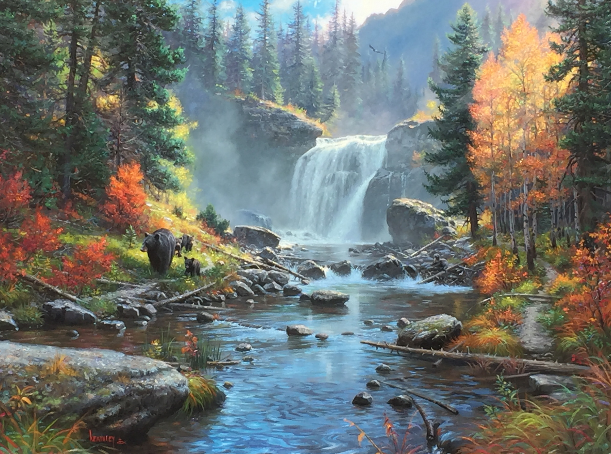 A Journey Past the Falls 36 x 48