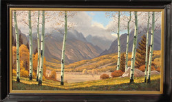 Golden Valley 38 x 70framed