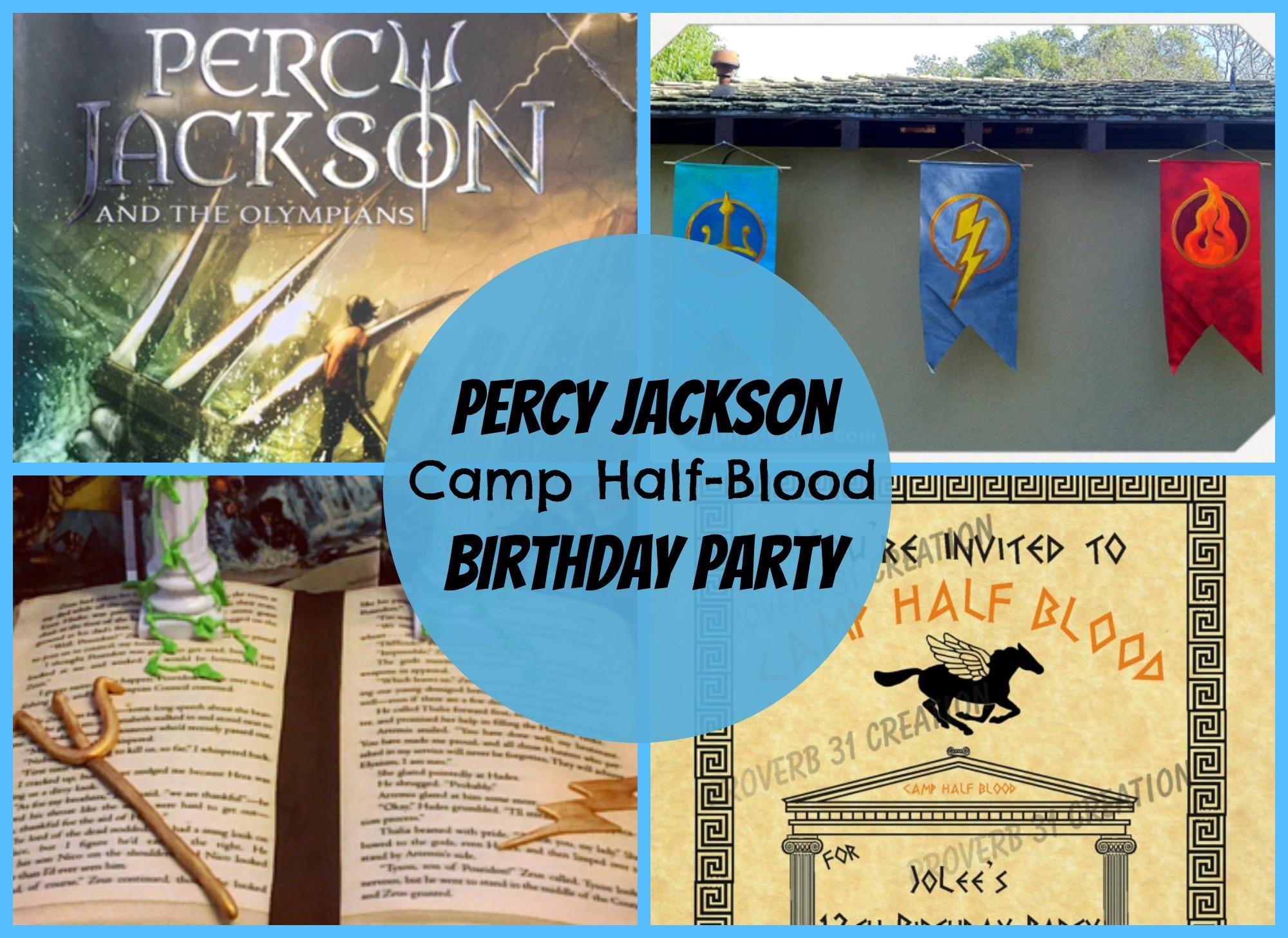 Throw a Percy Jackson Camp HalfBlood Party – Percy Jackson Birthday Invitations