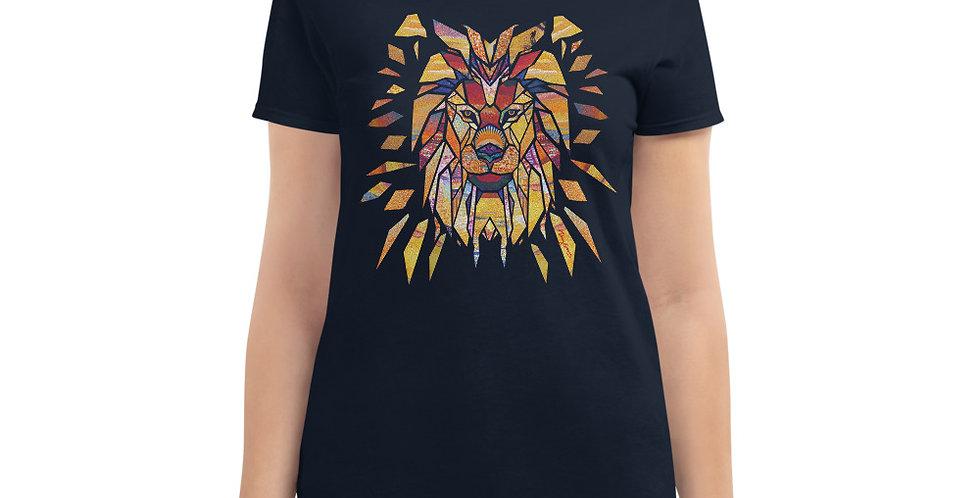 Geometric Lion - Women's short sleeve t-shirt