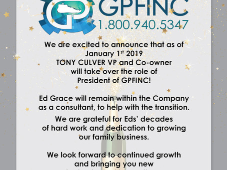 Exciting Announcement for 2019!
