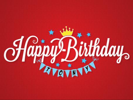 Happy Birthday Tony!
