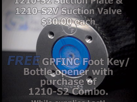 1210-S2 Suction Plate & 1210-S2V valve