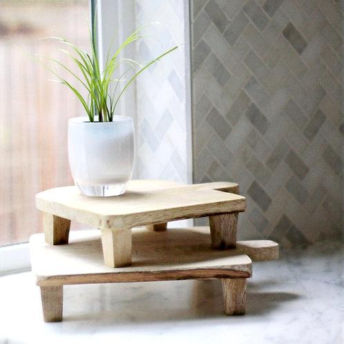 Small Natural Wood Board Riser