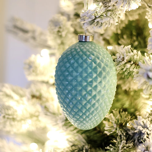 "5"" Glass Pine Cone Ornament"