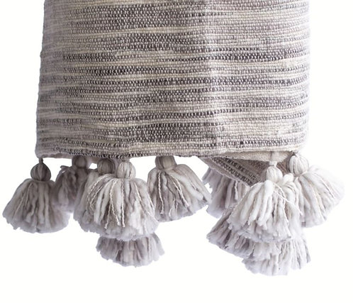 Handwoven Cozy Abstract Throw with Tassels