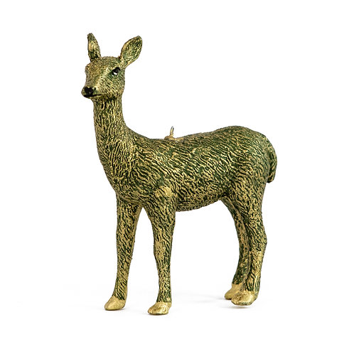 "4"" Forest Doe Ornament (Green)"