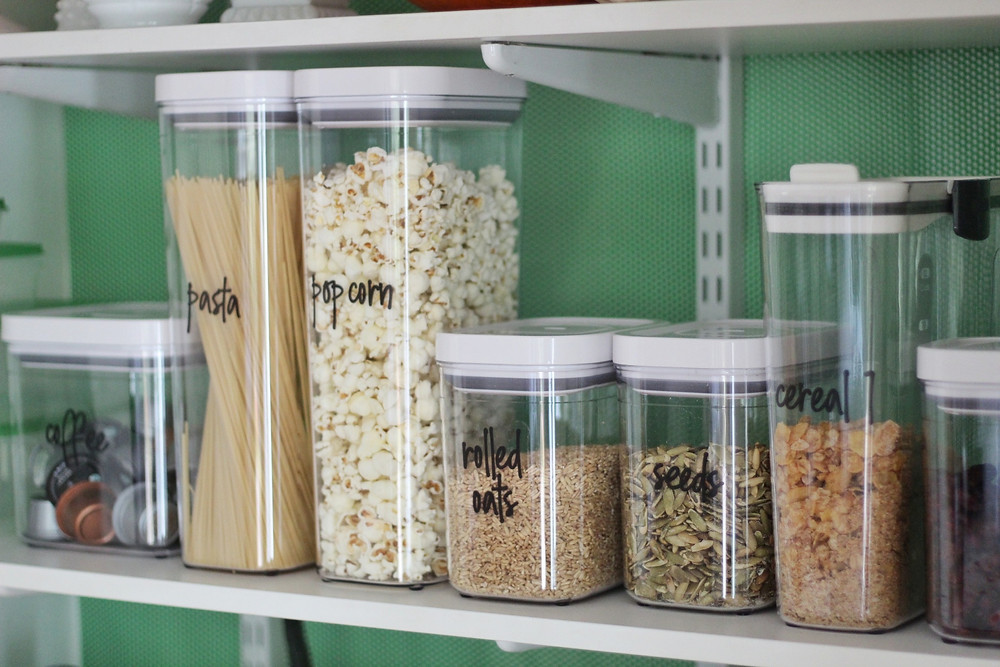 OXO Storage Containers arranged in pantry