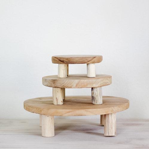 Noah Round Wood Risers