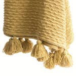 Handwoven Boucle Throw with Tassels